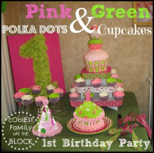 Polka Dots and Cupcakes 1st Birthday Party