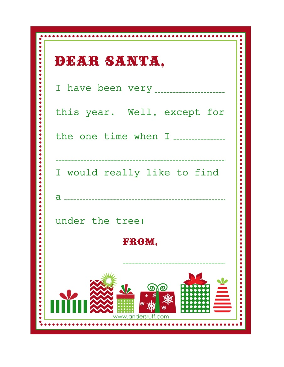 Dear Santa: Free Printable Santa Paper | Coolest Family on the Block