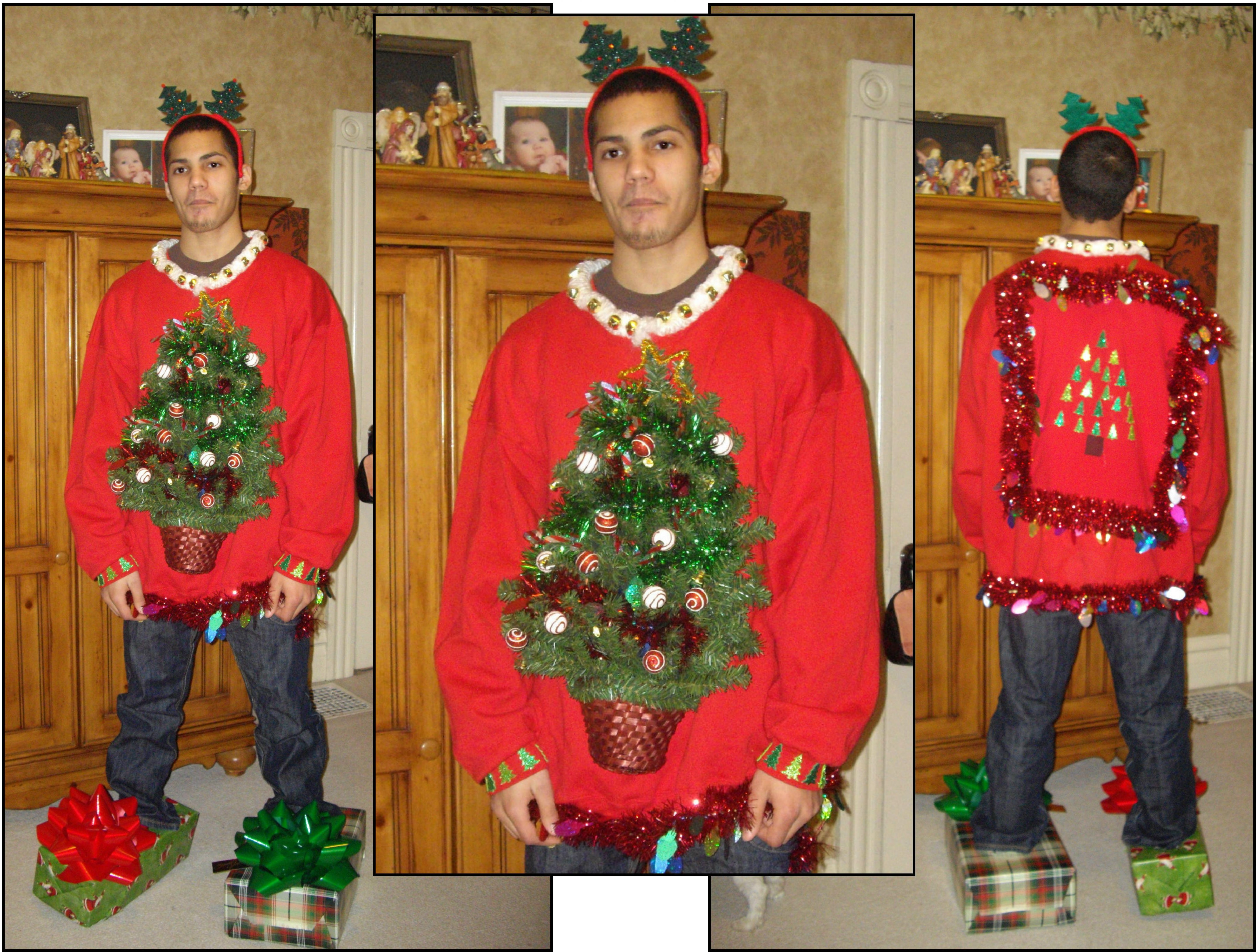 Ugly sweater the block and ugly christmas sweater on for Over the top ugly christmas sweaters