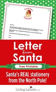 Free Printable Santa Letter (Living Locurto)