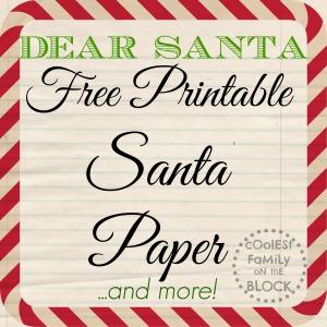 Free Printable Santa Paper!