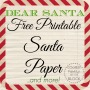 Dear Santa: Free Printable SantaPaper