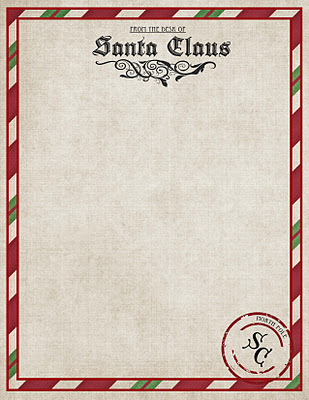photograph relating to Printable Santa Stationary referred to as Pricey Santa: Totally free Printable Santa Paper Coolest Family members upon
