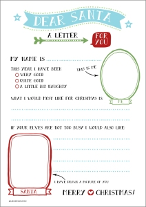 free printable letter to santa wink design