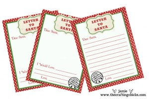 Letters to Santa Printable (The Crafting Chicks)