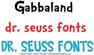 Free Dr Seuss fonts