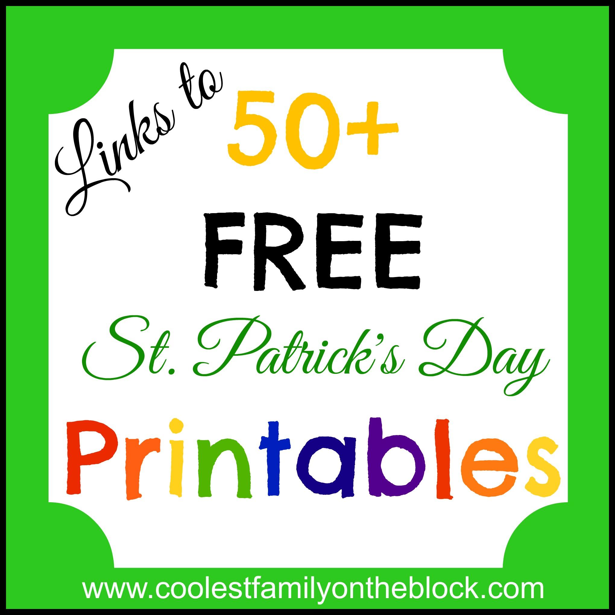 Free St Patricks Day Printables on The Jellybean Prayer Free Printable