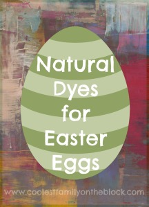 Natural dyes for coloring Easter eggs