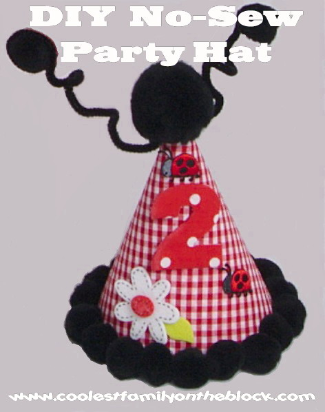 DIY No Sew Party Hat Tutorial