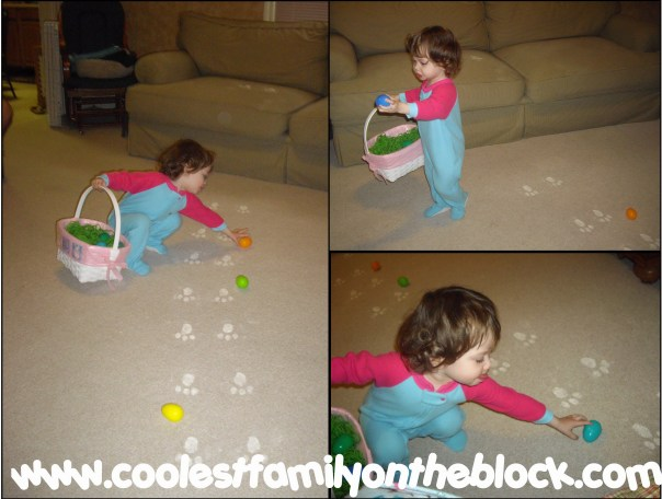 how to leave easter bunny footprints