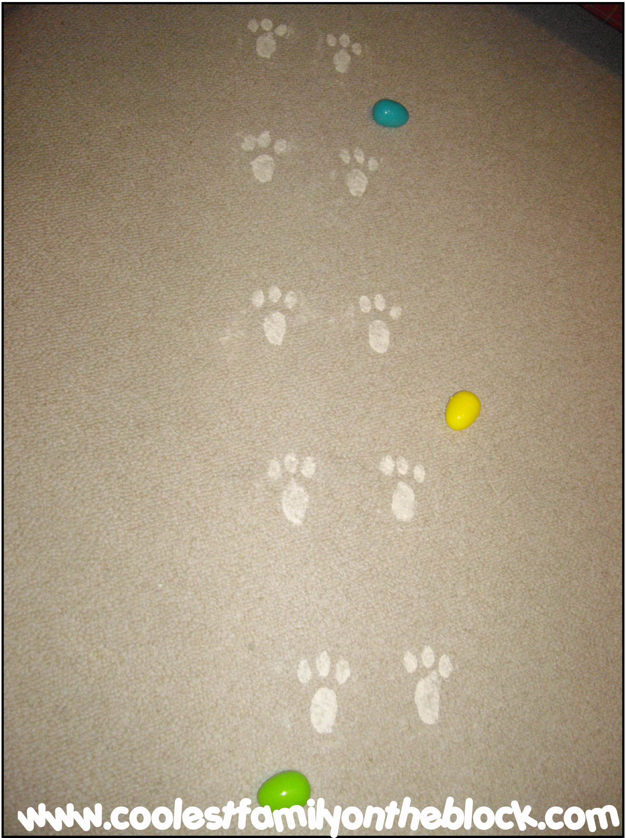 Easter Bunny Footprints Printable The bunny footprints which