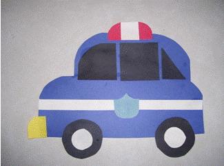 Police officer crafts for kids national police week for Car craft for kids