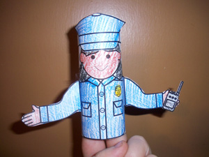Police officer crafts for kids national police week for Toilet roll puppets