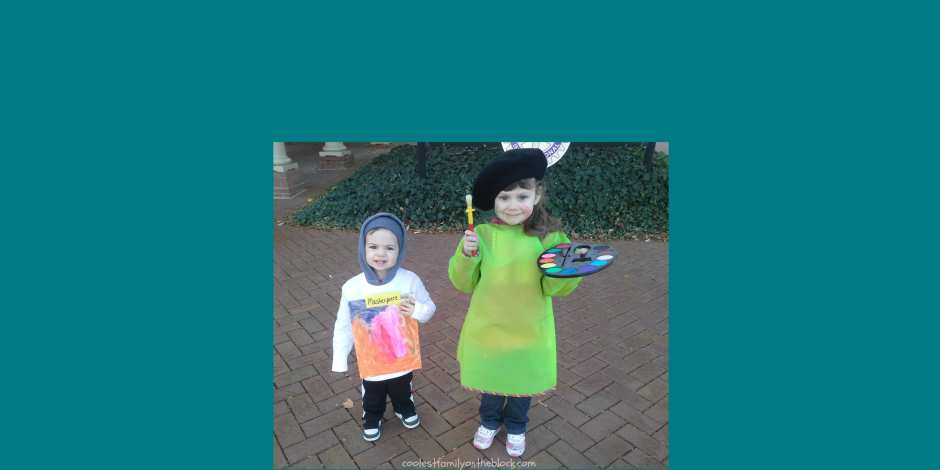 Artist and Masterpiece Sibling Halloween Costume