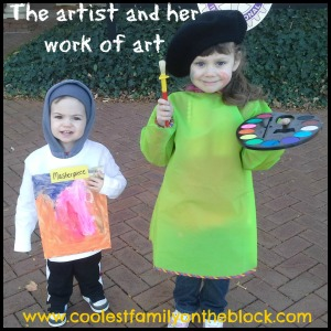 Artist and Masterpiece Sibling Costumes (Coolest Family on the Block)