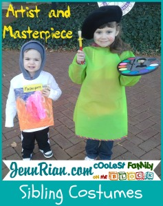 Artist and Masterpiece Sibling Halloween Costumes