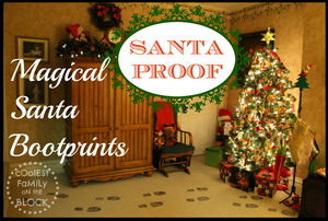 Santa Proof: Santa leave sooty boot prints