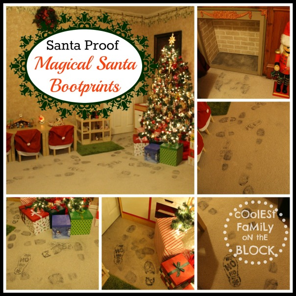 Santa Proof: Santa leaves his sooty bootprints on Christmas day!
