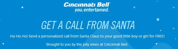 Cincinnati Bell: free call from Santa