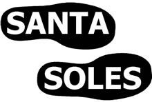 Santa Soles, make Santas sooty boot prints!