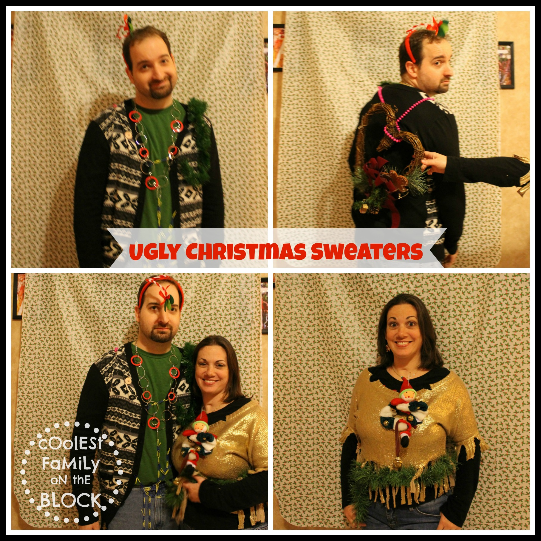Family ugly christmas sweaters