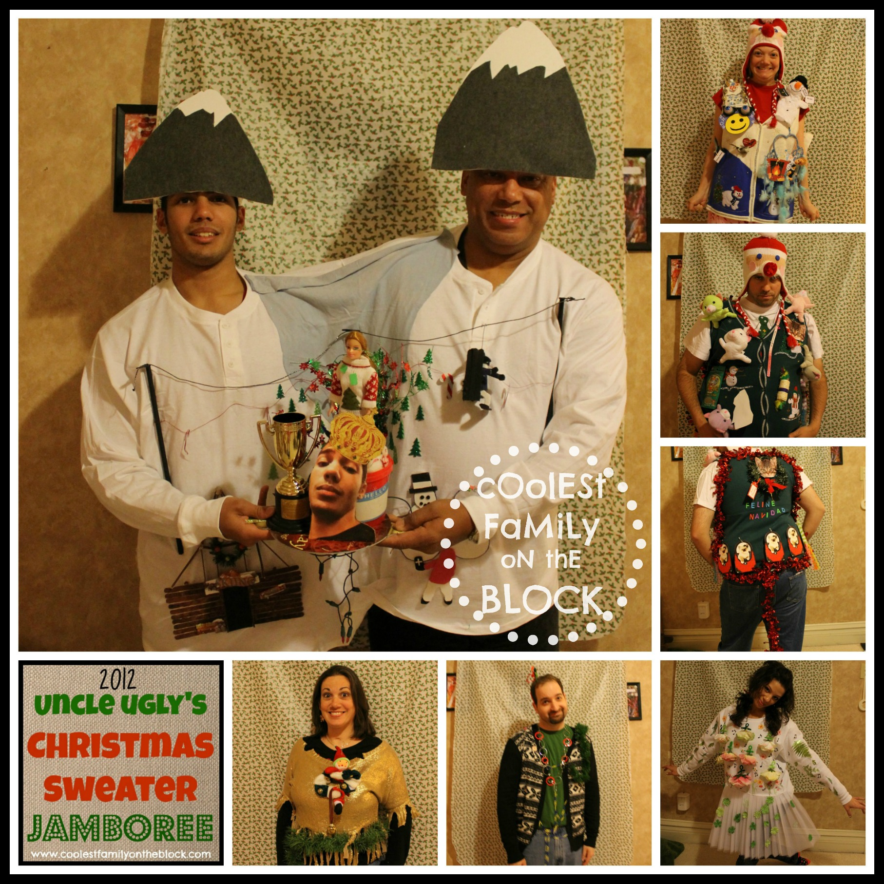 Christmas sweater family