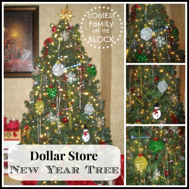 Dollar Store New Year Tree