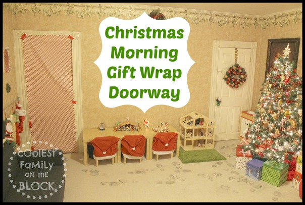Santa gift wrapped the doorway!