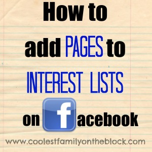 How to add Pages to Interest Lists on Facebook