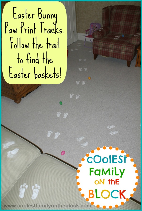 Easter bunny paw prints trailwma
