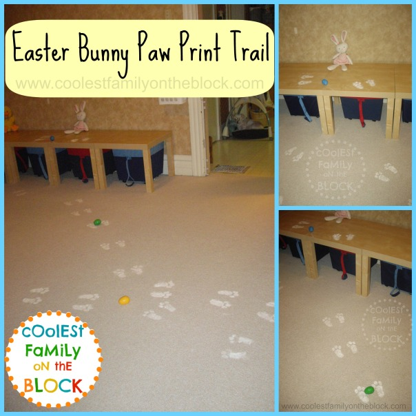diy Easter bunny paw print trail tradition