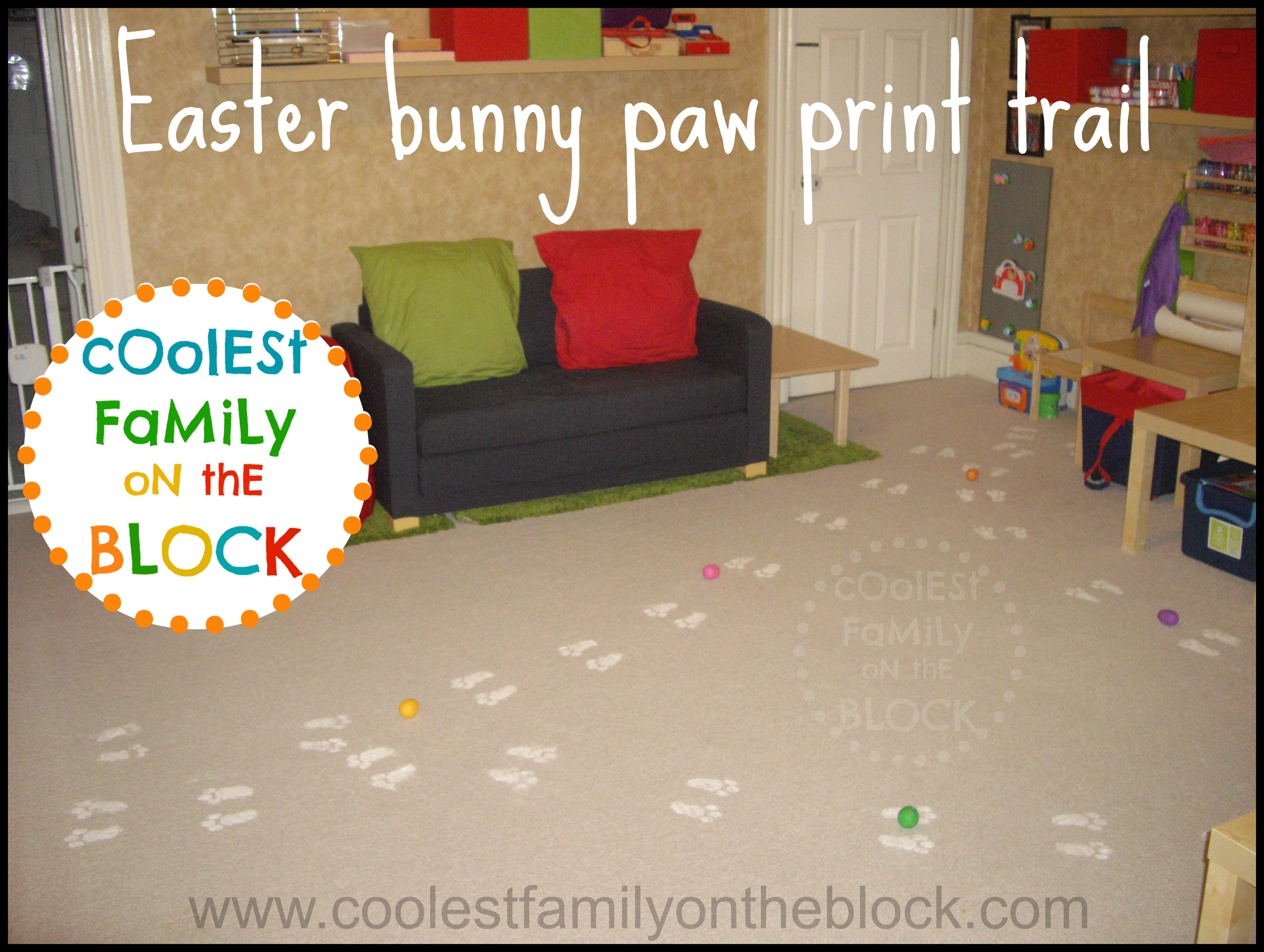 Easter Bunny Footprints Printable Diy easter bunny paw print