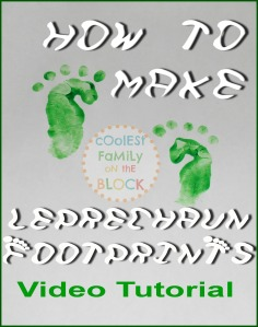 How to make leprechaun footprints video tutorials