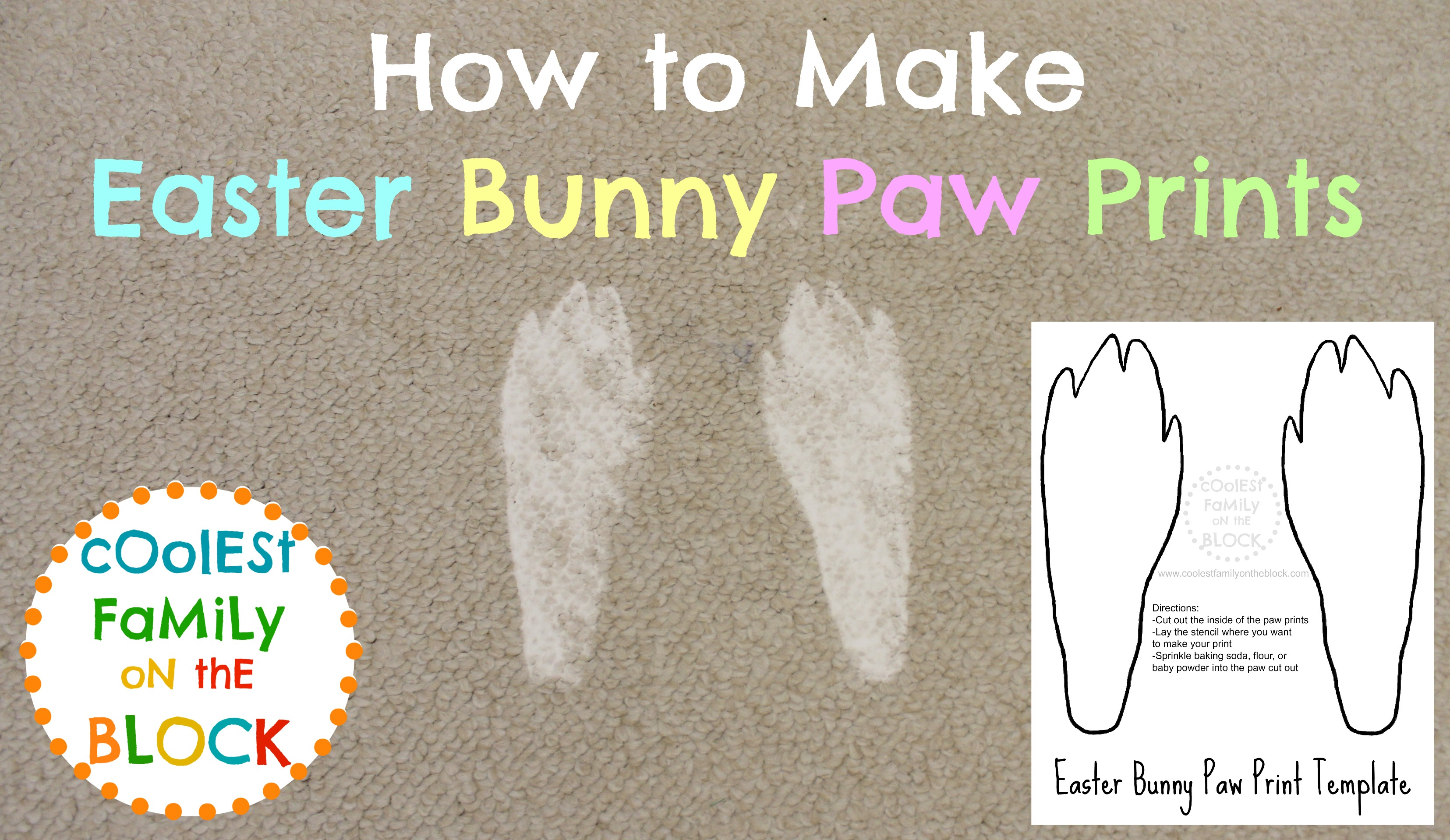 Easter Bunny Footprints Printable How to make easter bunny paw