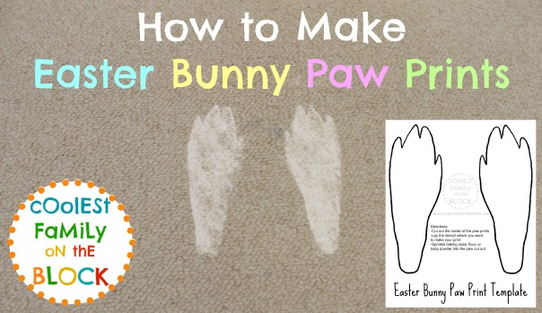 How To Make Easter Bunny Paw Prints With Free Printable Template