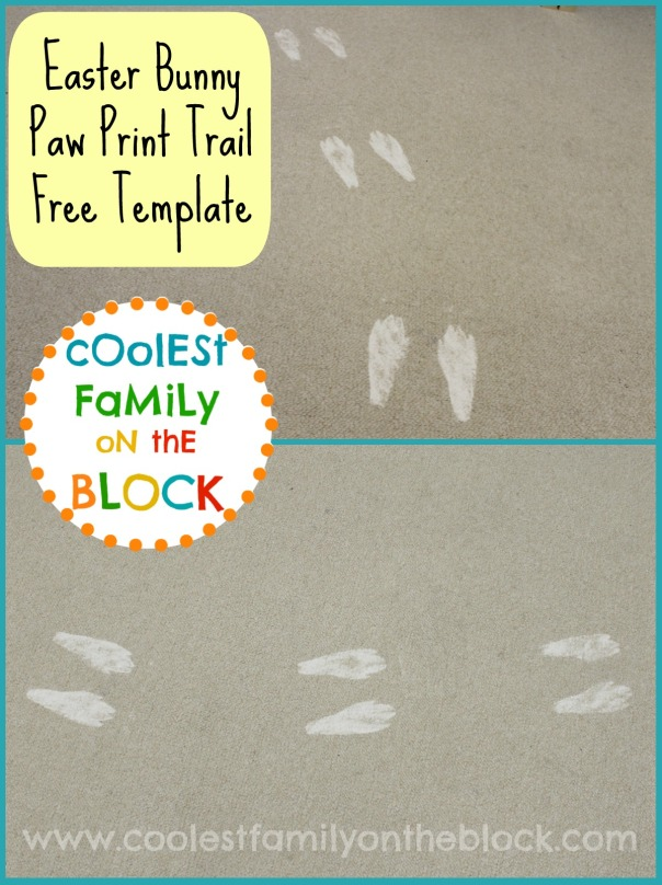 DIY Easter Bunny Paw Prints Free Template