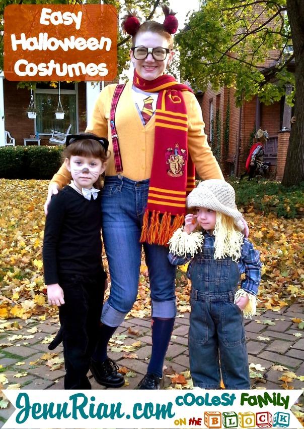 Easy Halloween Costumes: Cat, Scarecrow, Nerd