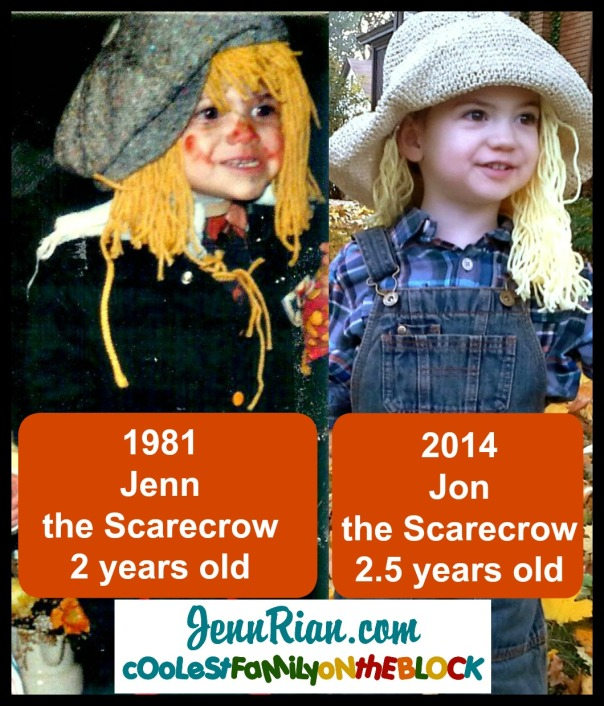 Scarecrow Cuties: Mom and Son Comparison