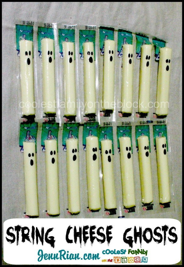 Healthy Halloween Snacks: String Cheese Ghosts