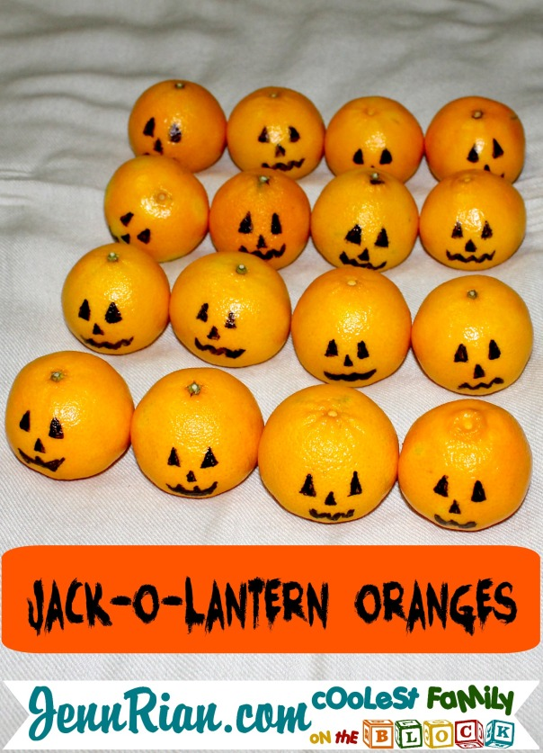 Healthy Halloween Snacks: Jack-o-Lantern Oranges